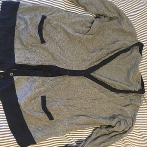 J Crew gray cardigan with Navy edges